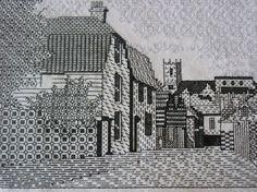 Blackwork. Mary Hickmott pattern.