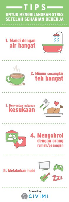 5 Tips Menghilangkan Penat (Infographic)