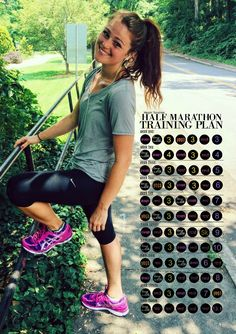 My half marathon training plan + what I ate! Blogged every run & every training day!