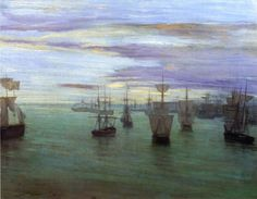 Crepuscule in Flesh Colour and Green: Valparaiso James Abbott McNeill Whistler - 1866 Tate Britain (England) Painting - oil on canvas Height: 58.42 cm (23 in.), Width: 75.88 cm (29.88 in.)