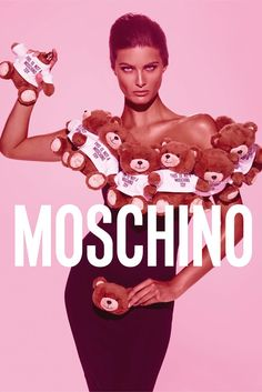 Isabeli Fontana Ad campaign for Moschino Toy Photo by Steven Meisel