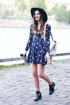 Urban Outfitters Floral Dress Seventies Style Outfit