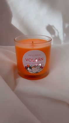 Volcan Candle - Orange Candle - Scent: Mandarine, strawberry, raspberry - 8.5 oz - 100% soy wax Homemade Soy Candles, Scented Candles, Raspberry, Strawberry, Natural Candles, Wax, Orange, Strawberry Fruit, Raspberries