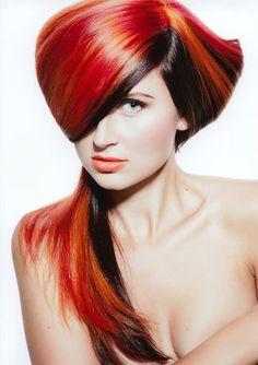 präsentiert von www.my-hair-and-me.de #women #hair #haare #red #brown #rot #braun