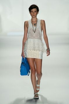 White lace on the Rebecca Minkoff Spring 2014 runway