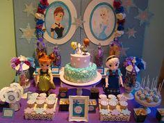 Frozen (disney) birthday party ideas frozen birthday party i Frozen Themed Birthday Party, Birthday Party Desserts, Disney Frozen Birthday, 3rd Birthday Parties, Frozen Disney, Anna Frozen, Festa Frozen Fever, Oreo, Le Pilates