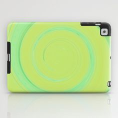 Re-Created Spin Painting (Yellowish Green) iPad Case by Robert Lee - $60.00