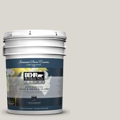 BEHR Premium Plus Ultra 5-gal. #790C-2 Silver Drop Satin Enamel Interior Paint