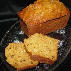 Pumpkin Cheese Bread I Allrecipes.com Can mix it up with brown and white sugar, add vanilla, add nutmeg (and heavier hand with spices if you like more spice flavor), also nuts are optional
