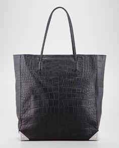 V13YE Alexander Wang Prisma Crocodile-Embossed Tote Bag