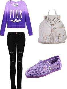 """Purple Pink Brand"" by jasmyne-harris on Polyvore"