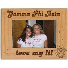 Gamma Phi Beta Sorority Love My Lil Picture Frame