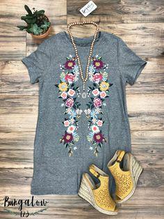 La Isla Dress - Grey