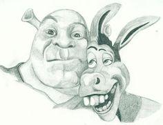 Shrek and Donkey by lucyannshaw.deviantart.com on @deviantART