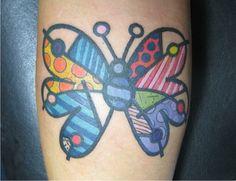 Romero Britto by Daniel Vasconcellos Tattoo, via Flickr