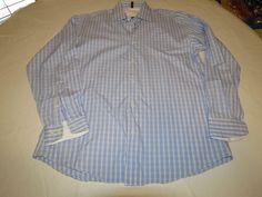 Ben Sherman 15 1/2 32-33 Mens long sleeve button up dress casual shirt blue EUC@ #BenSherman #ButtonFront