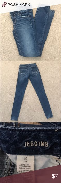 American eagle jegging in 2 long American eagle jegging in 2 long. Super stretch. Like new. American Eagle Outfitters Jeans Skinny