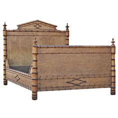 vintage faux bamboo and wood bed from a unique collection of antique and modern beds bamboo wood furniture