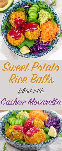 The Tasty K | Sweet Potato Rice Balls | http://thetastyk.com