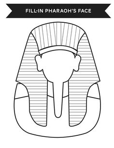 Ancient Egypt, : Print Your Face in Ancient Egypt Pharaoh Costume Coloring Page