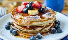Good Breakfast Places, Breakfast Restaurants, Best Breakfast, Breakfast Recipes, Pancake Recipes, Pancake Ideas, Dinner Recipes, Mini Pancakes, Fluffy Pancakes