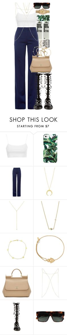 """""""If you pick up a starving dog and make him prosperous he will not bite you. This is the principal difference between a dog and man."""" by quiche ❤ liked on Polyvore featuring Topshop, Milly, Altuzarra, ZoÃ« Chicco, Sydney Evan, Jennifer Meyer Jewelry, Marc by Marc Jacobs, Alex and Ani, Dolce&Gabbana and River Island"""