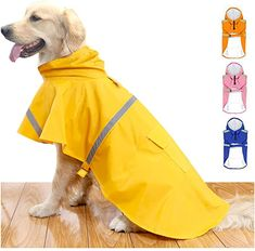 Amazon.com : HAPEE Dog Raincoats for Large Dogs with Reflective Strip Hoodie, Rain Poncho Jacket for Dogs : Pet Supplies Cute Raincoats, Dog Raincoat, Rain Poncho, Baby Dogs, Piece Of Clothing, Large Dogs, Dog Owners, Dog Pictures, Dog Love