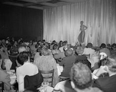 What a show: Stripper Lili St. Cyr gives the audience an eyeful during a performance at Ciro's Nightclub in October 1951