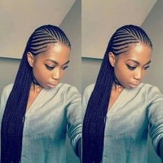 Have you been swooning over the hottest hairstyle of 2017 – Alicia Keys braids? We've compiled our top ideas for styling your cornrows.Cornrows have been around for many years now and are one of the most popular protective styles sported by African women. Black Girl Braids, Braids For Black Hair, Girls Braids, African Braids Hairstyles, Protective Hairstyles, Braided Hairstyles, Protective Styles, Hairstyles 2018, Wedding Hairstyles