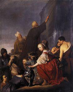 Moses Striking the Rock / Moisés y el Agua de la Roca // c. 1630 // Pieter de Grebber // Musée des Beaux-Arts, Tourcoing