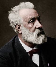 Jules Verne, the father of science fiction, would be 188 years old today. He was a french author who pioneered the science fiction genre. He is best known for his novels Twenty Thousand Leagues Under. Jules Verne, Book Writer, Book Authors, Writers And Poets, Portraits, Famous People, History, Film, Nautilus