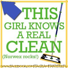 Happy Norwex Day! Can't wait to (mock) party with you cleaning freaks tomorrow night too! (Feel free to use this as you wish!!)