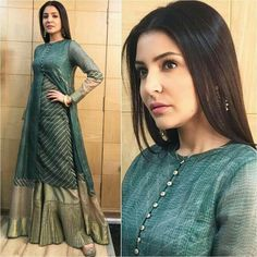 Want to Look Cool? Try Full Neck Designs for Kurtis Kurti Neck Designs, Kurti Designs Party Wear, Blouse Designs, Neck Design For Kurtis, Neck Designs For Suits, Dress Designs, Indian Attire, Indian Wear, Indian Outfits