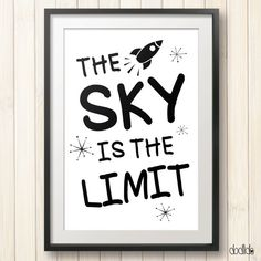 The sky is the limit, kids room decor by Dodlido