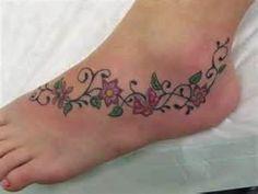 Small Flower Foot Tattoo Designsjpg
