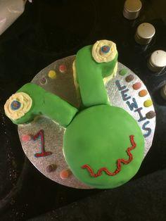 Alien cake for Lewis's 1st Birthday