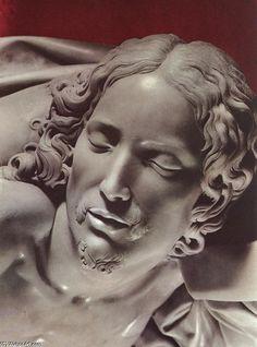 An absolute masterpiece!  Michelangelo di Buonarotti, detail of the Pieta, St-Peters, Rome  ~  Amazing!