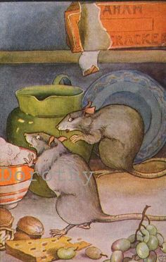 """""""Town mouse and Country mouse"""" from Aesop's Tales, 1929"""