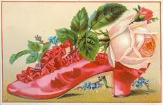 Set 2 Victorian Ladies Shoes ~ Slippers Clipart Images - Percy & Bloom - Percy & Bloom