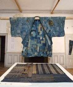 Sashiko Boro –The Fabric of Life at Domaine de Boisbuchet, Lessac, France Sashiko Embroidery, Japanese Embroidery, Japanese Textiles, Japanese Fabric, Shibori, Boro Stitching, Visible Mending, Make Do And Mend, Clothing And Textile