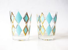 Vintage Atomic Glassware  Mid Century Lowball by LaRouxVintage, $12.00