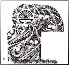 half sleeve tribal by shepush.deviantart.com on @deviantART