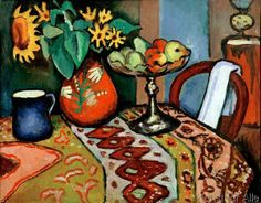 August Macke - Stilllife with sunflowers I