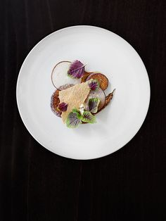 Eggplant, amaranth, and licorice by Bryce Shuman of Betony in New York City.