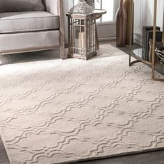nuLOOM Handmade Modern Trellis Fancy Wool Cream Runner Rug (2'6 x 8') - Free Shipping Today - Overstock.com - 18369218 - Mobile