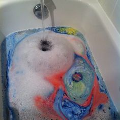 """My bath bomb decided to turn my bath into a Van Gough painting"" --reoffend on Tumblr"