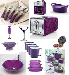 if it wouldnt make me look like a crazy person my whole house purple kitchenall - Purple Kitchen Decor
