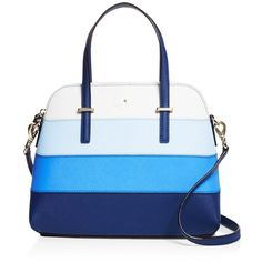 kate spade new york Cedar Street Stripe Maise Satchel ( 345) ❤ liked on  Polyvore ea2d261e73546