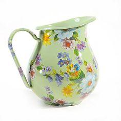 Flower Market Enamel Pitcher - Green   My favorite color in Mackenzie Childs.  Love my pitcher.