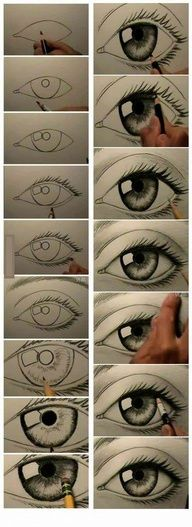 how to draw eyes Pics Only